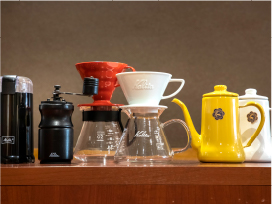 多種多様なコーヒー器具